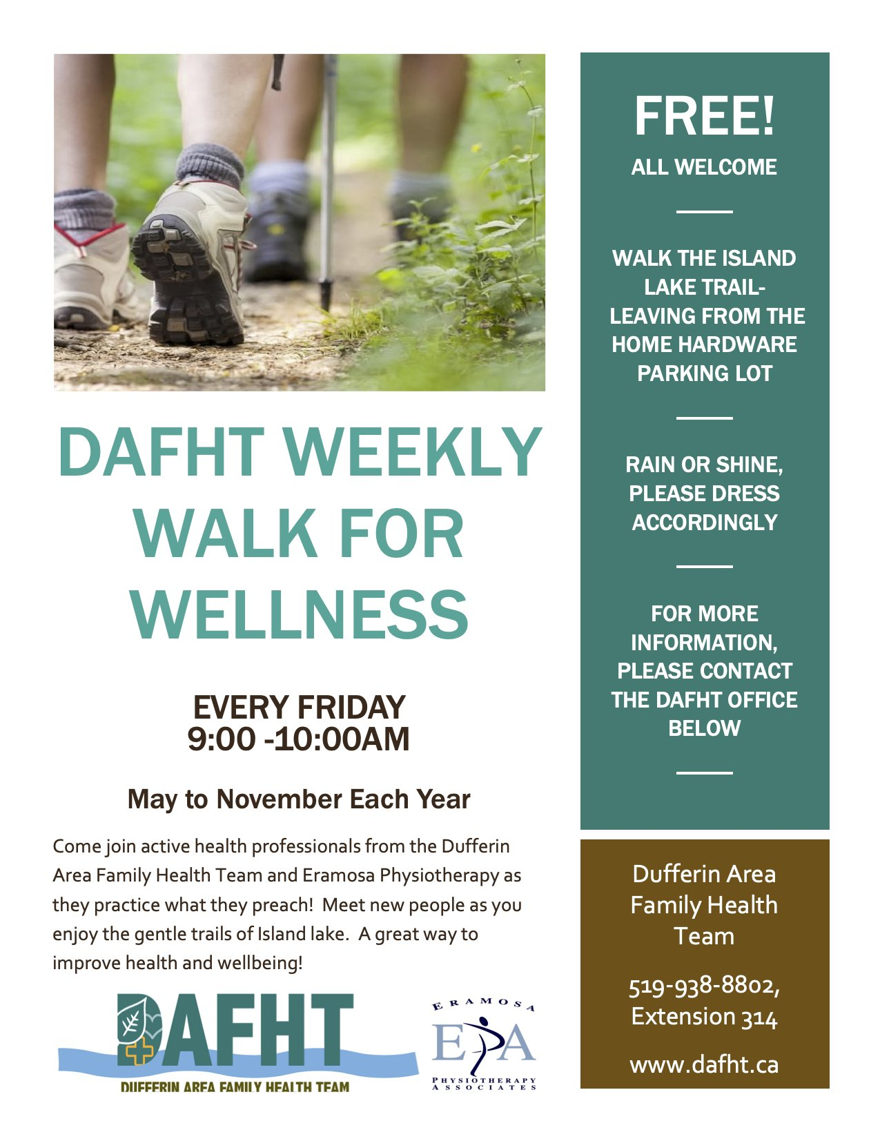 Weekly Walk for Wellness poster